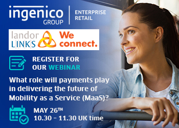 What role will payments play in delivering MaaS? - A one-hour webinar 26 May 2020 - 10:30